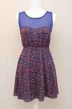 Forever 21 S Sleeveless Dress A-Line Sundress Navy Orange Green Floral S... - $19.77