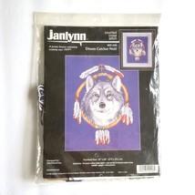 Janlynn Dream Catcher Wolf Cross Stitch Kit 02 448 1998 Aida 14 Ct Counted - $19.79