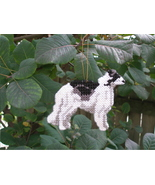 Borzoi everyday Ornament, OOAK, clearance - get it before it is gone - $23.80