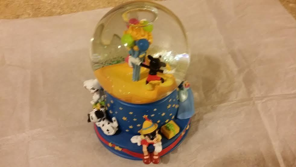 Walt Disney 100th Anniversary Birthday Snow Globe when You Wish Upon A Star