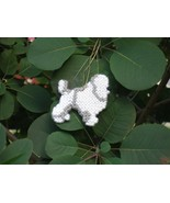 Toy Poodle everyday Ornament, OOAK, clearance 50% off - get it before it... - $7.50