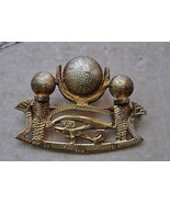Vintage Egyptian silver-gold plated Brooch Pendant - $59.40