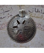 Ethnic Egyptian Bedouin style-Silver Pendant Ch... - $38.61