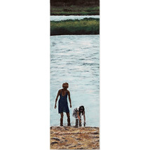 Afternoon Beach, An Original Portrait of a Mother and Daughter at the Beach - $1,300.00