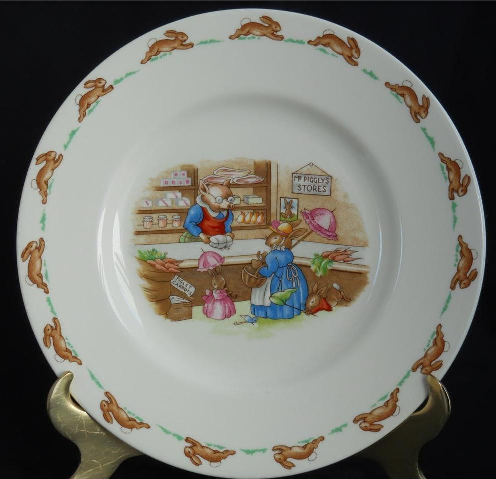Primary image for ROYAL DOULTON ~ Bunnykins ~ Mr. Piggly's Stores ~ Plate