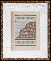 Beach Day cross stitch chart Country Cottage Needleworks - $7.20