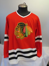 Chicago Blackhawks Jersey (VTG) - Away Red By CCM - Men's Large - $125.00