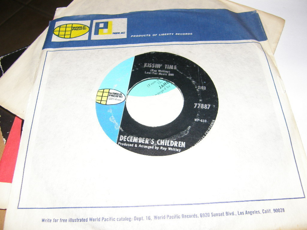 December's Children Backwards and Forwards / Kissin Time 45 Rare 77887