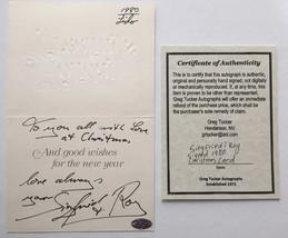 SIEGFRIED & ROY DUAL SIGNED CHRISTMAS CARD RARE COA GREG TUCKER AUTOGRAPH - $299.00