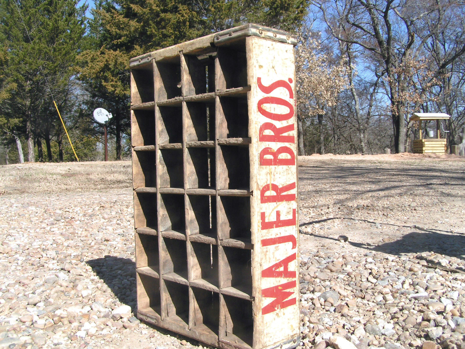 Old wooden soda crate majer brothers bottle carrier 2023 for Wooden soda crate ideas
