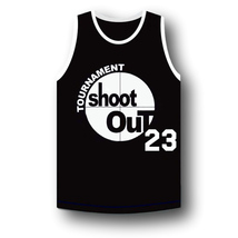 Motaw #23 Above The Rim Tournament Shoot Out Basketball Jersey Black Any Size image 1