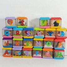 Fisher Price Peek A Boo Blocks Alphabet Letters ABC Lot of 22  (cq) - $24.75