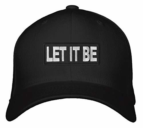 Let It Be Hat Adjustable Black Snapback Cap