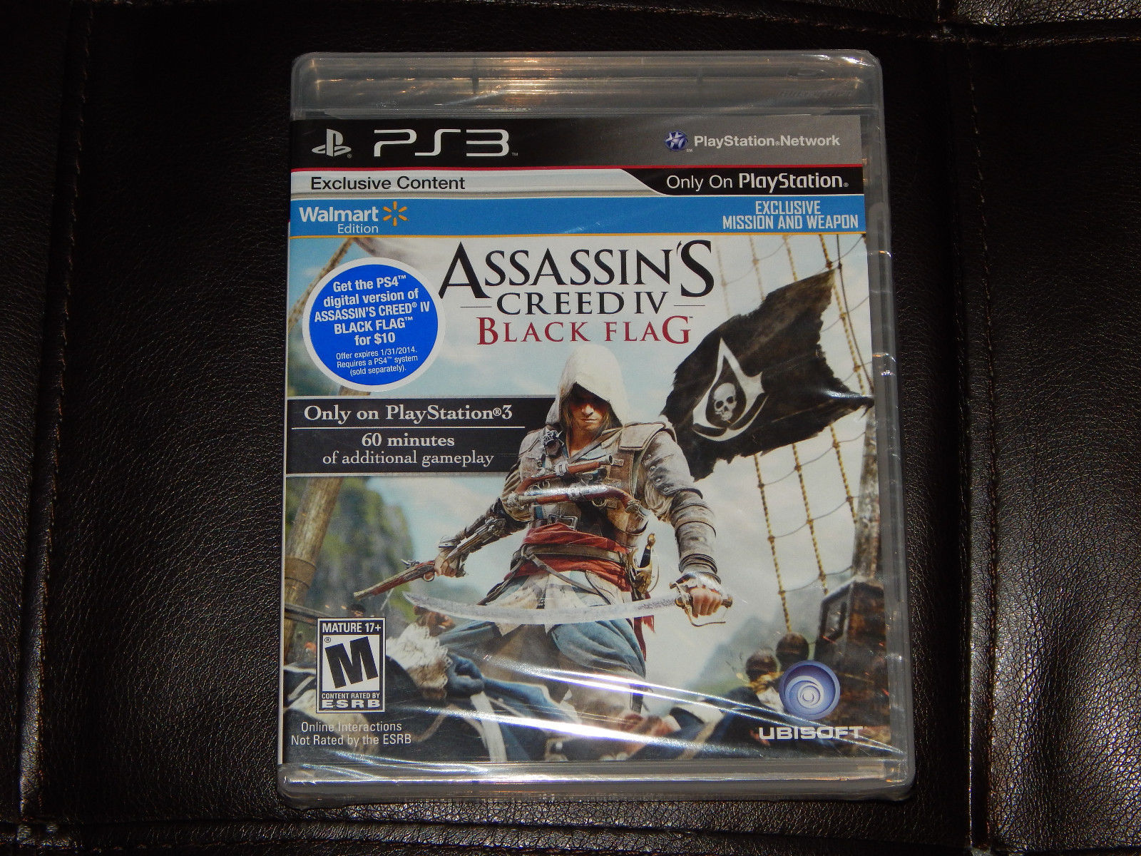 New Assassins Creed IV Black Flag PS3 PlayStation 3 W/ Bonus DLC Free Shipping