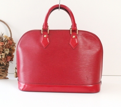 Authentic Louis Vuitton Epi Red Alma tote handbag - $650.00