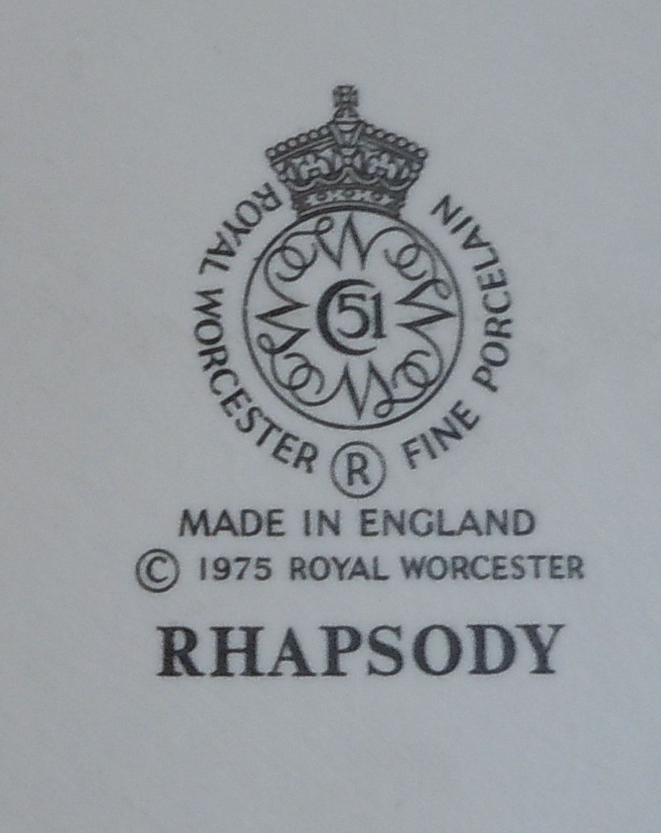 Royal Worcester Rhapsody Flat Cup and Saucer Set
