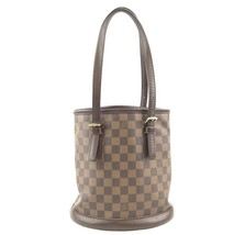 #31746 Louis Vuitton Bucket Marais Hobo Pm Tote Damier Ébène Canvas Shoulder Bag image 2
