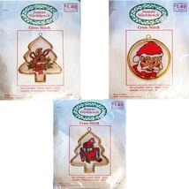 Reindeer Santa Bear Lot Counted Cross Stitch Kits Frames Santa's Workben... - $7.99