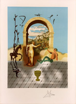 """Salvador Dali """"Gateway to the New World"""" Signed Print Frank Hunter Authe... - $2,500.00"""