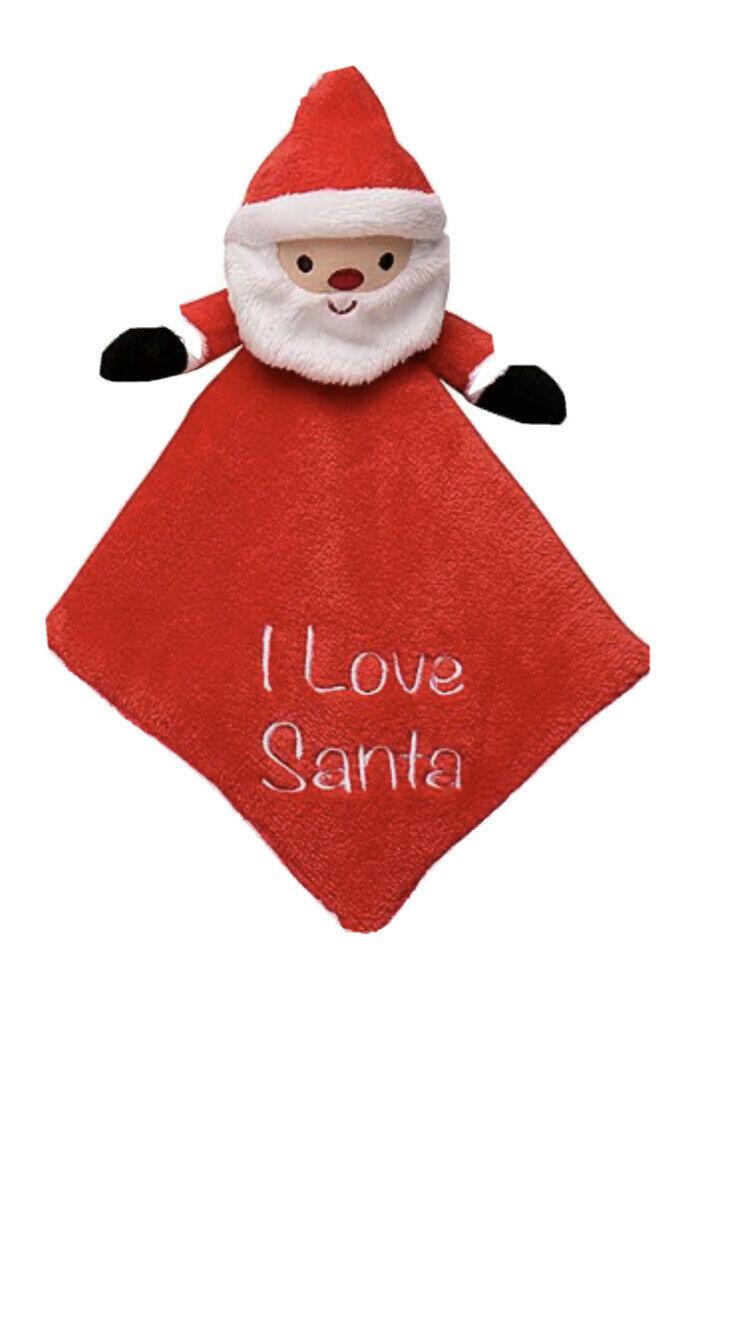 Little Me Santa Baby Snuggle Blanket It Rattles - $13.45