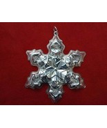 "Vintage 1975 Gorham Sterling Silver Snowflake Ornament ""Marlene"" on back... - $59.00"