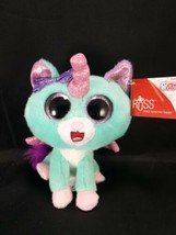 "Russ Unicorn Cat Vega 7"" Green Pink Shiny Wings Plush Stuffed Animal NEW - $16.82"