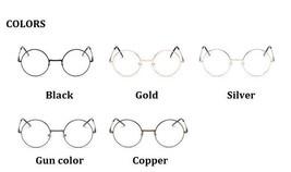 Men Women Round Sunglasses Metal Frame Eyeglasses Korean Clear Lens Glas... - $9.99