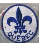 Quebec French Province Canada Fleur De Lis Embroidered Sew On Patch Embl... - $3.79