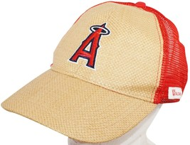 Angels Mlb Baseball Los Angeles Or Anaheim - One Size Promo Straw Hat Used - $14.88