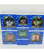 Lumiere Glass Christmas Ornaments Brass Key Collection Hand Crafted 2001... - $49.47