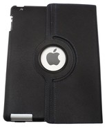 Black Rotating Case Cover for Apple iPad 2/3/4 With 3 Standing Angles NEW - $14.99