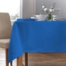 "Woven Damask Rose Royal Blue Rectangle Tablecloth 54""X70"" (137X178CM)&4 Napkins - $26.95"