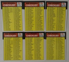 1986 Topps Checklist Team Set of 7 Baseball Cards With Traded - $3.50