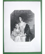 QUEEN VICTORIA'S Court Beauty Countess of Listowel - SUPERB Print Engraving - $21.42