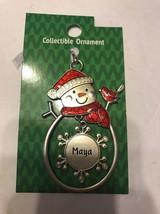 "Christmas Tree Ornament Snowman ""Maya"" Vintage Rare Ships N 24h - $11.86"