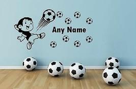 Personnalisé Football Tout Nom Vinyle Autocollant Mural Art Autocollant ... - $12.81