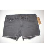 New Womens True Religion NWT Denim Jean Shorts 30 Keira Dark Gray Black USA - $269.00