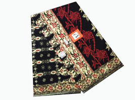 Womens Sarong Batik Pareo Skirt Floral Wrap Bamboo Flower Cotton Fabric ... - $14.84