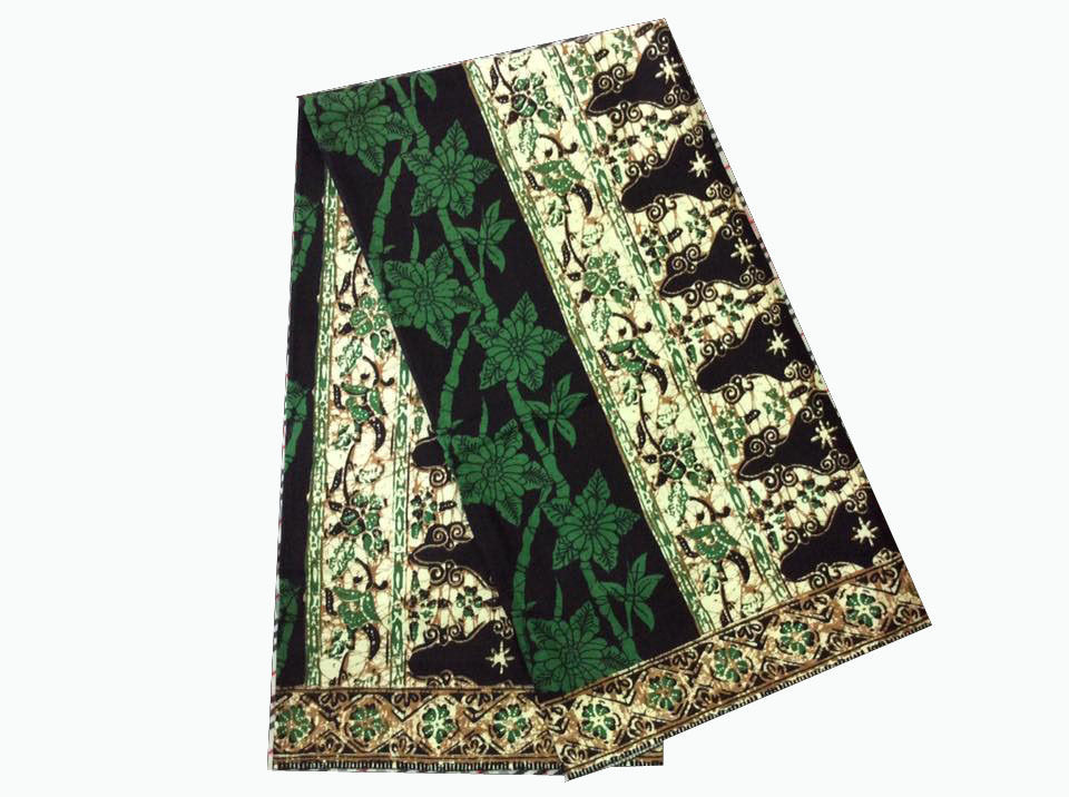 Womens Sarong Batik Pareo Skirt Floral Wrap Bamboo Flower Cotton Fabric Black #1
