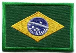 Brazilian flag Brazil applique iron-on patch new S-107 - $2.95