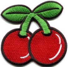 Cherry cherries fruit retro vegas slots applique iron-on patch new S-193 - $2.95