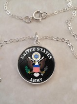 Sterling Silver 925 Necklace United States Army - $30.50+