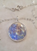Sterling Silver 925 Necklace Mercury Planet Science Astronomy Astrophysics - $30.00+