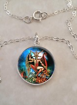 Sterling Silver 925 Necklace Baphomet Satan Devil Satanism Demon - $30.50+