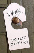 Do Not Disturb Metal Door Knob Sign