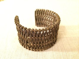 Cookie Lee Bronze/Brass Colored Intertwined Rope Cuff Bracelet - $39.59