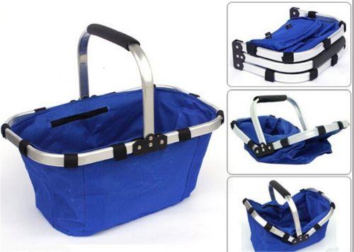 Colourful Market Portable Picnic Basket  Reusable Shopping Picnic Basket  - $18.69