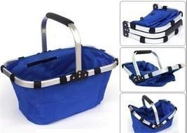 Colourful Market Portable Picnic Basket  Reusable Shopping Picnic Basket  - £13.59 GBP