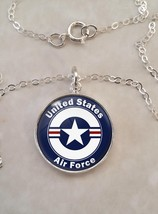 Sterling Silver 925 Necklace United States Air Force - £23.18 GBP+