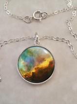 Sterling Silver 925 Necklace Omega Nebula Science Astronomy Astrophysics - £22.71 GBP+